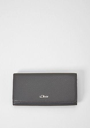 Portemonnee met klep en logoplaatje