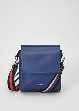 Shoulder bag with a striped strap from s.Oliver