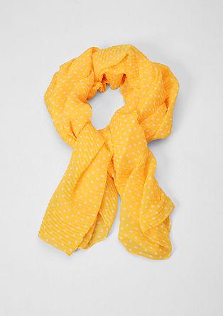 Lange sjaal met plissés