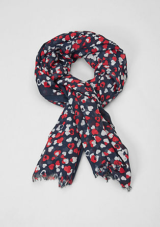 Scarf with a heart print from s.Oliver