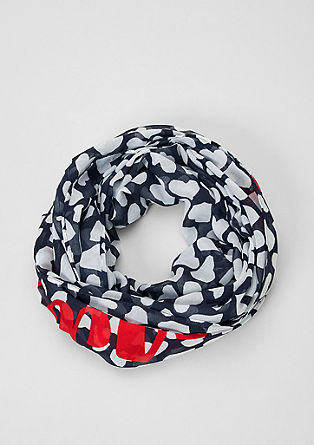 Snood with a heart print from s.Oliver