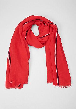 Sjaal met gestreepte details
