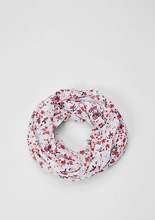 Snood with a floral pattern from s.Oliver