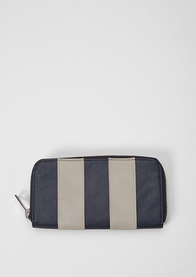 Zip purse with block stripes from s.Oliver
