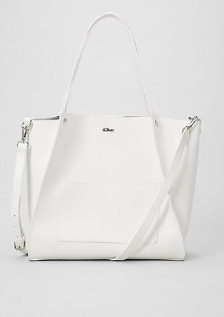 Elegant faux leather shopper from s.Oliver