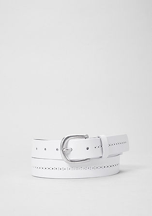 Leather belt with perforations from s.Oliver