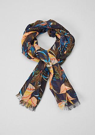 Leichter Schal mit Tropenprint