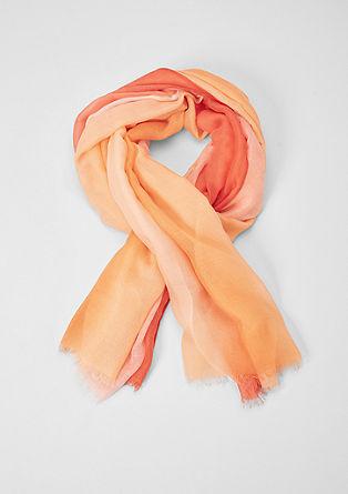 Geweven sjaal met kleurverloop