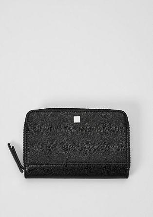 Zip Wallet in Leder-Optik