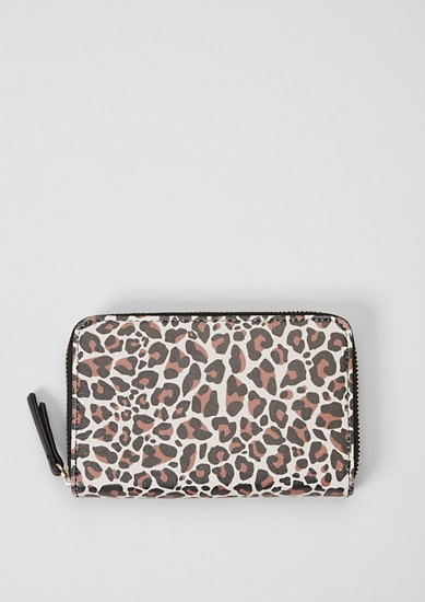 Zip purse in a leopard look from s.Oliver