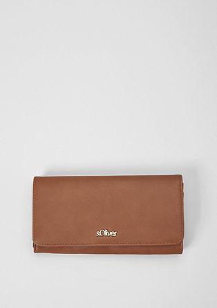 Flap Wallet in glatter Leder-Optik