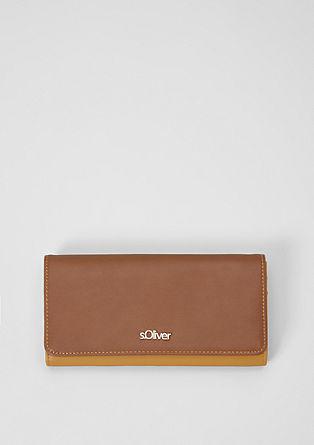 Flap Wallet in Two Tone-Optik