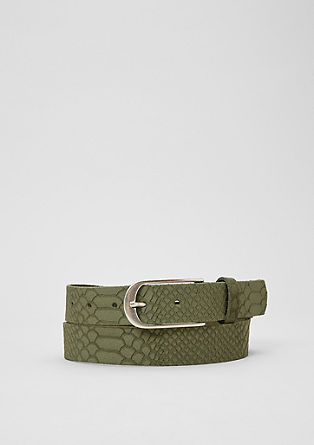 Suede belt with an animal pattern from s.Oliver