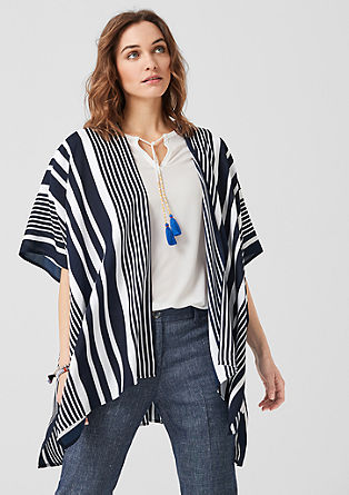Lightweight poncho with stripes from s.Oliver