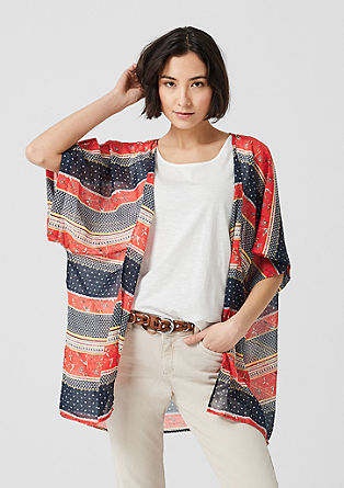 Breezy pattern mix poncho from s.Oliver