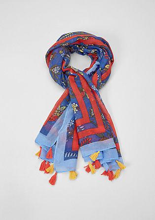 Geweven sjaal met kwastjes