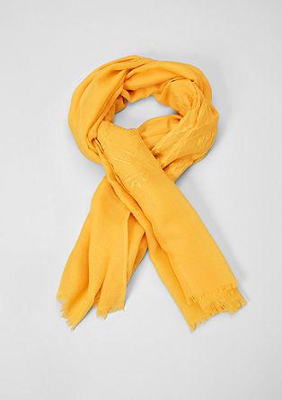 Geweven sjaal met borduursel