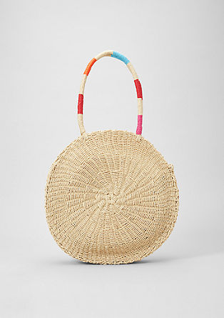 Woven shopper with a round design from s.Oliver