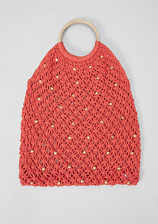 Mesh bag with wood-effect details from s.Oliver