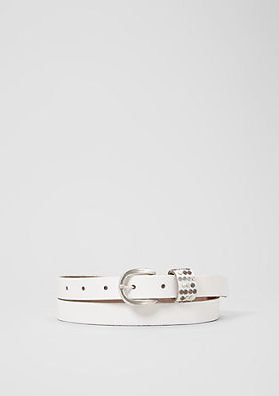 Leather belt with stud details from s.Oliver
