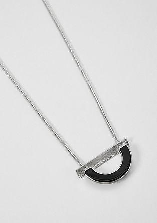 Slangenketting met halfronde hanger