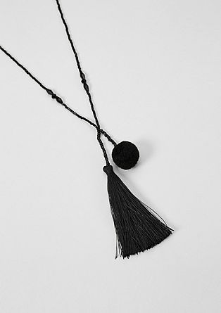 Decorative bead necklace with tassels from s.Oliver