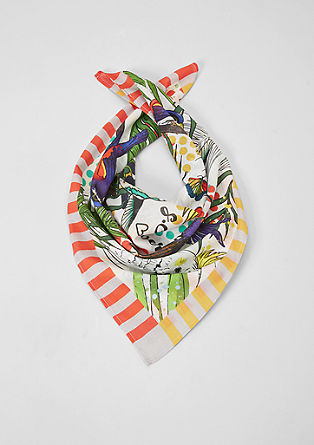 Scarf with a parrot print from s.Oliver