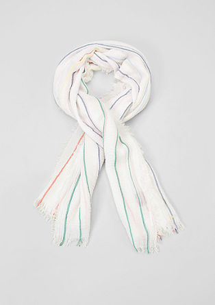 Lightweight woven scarf with stripes from s.Oliver