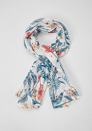 Scarf with a floral pattern from s.Oliver