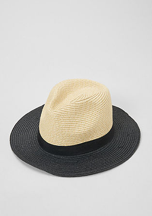 Trilby hat with a contrasting brim from s.Oliver
