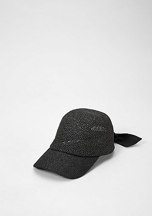 Mesh cap with a bow from s.Oliver