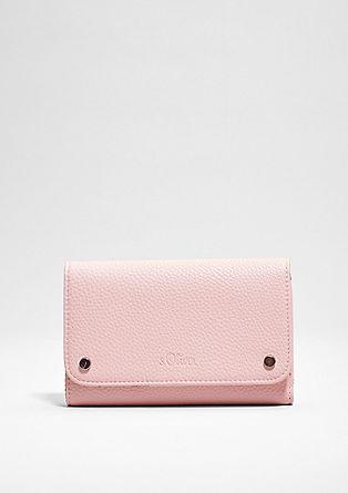 Gestructureerde portemonnee met een klep