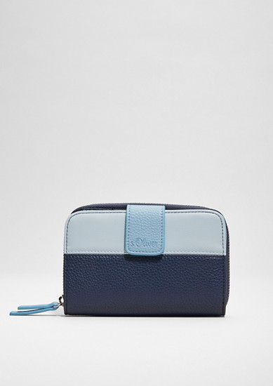 Zip wallet in a two-tone design from s.Oliver