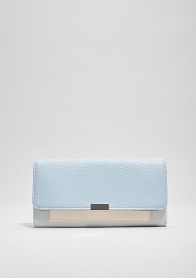 Flap purse with textured effects from s.Oliver