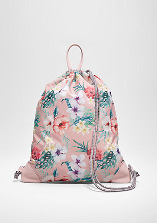 Backpack with a floral print from s.Oliver
