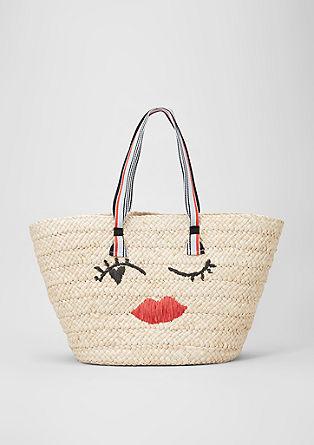 Maisstroh-Shopper mit Stitching