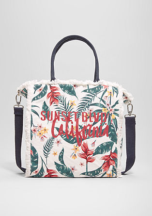 Shopper met een print all-over