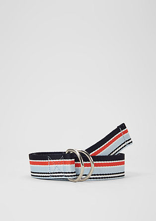 Woven tape belt with stripes from s.Oliver