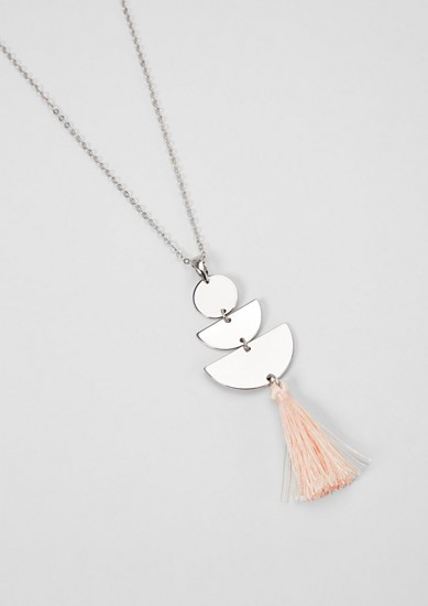 Long necklace with a tassel pendant from s.Oliver