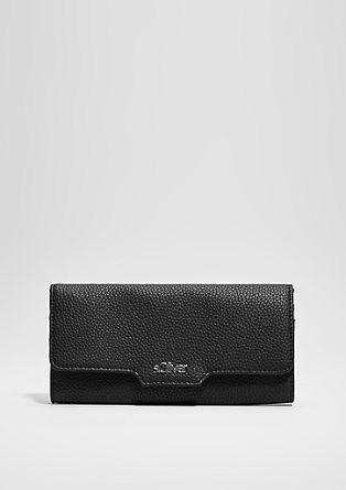 Pregibna denarnica s ploščico z logotipom