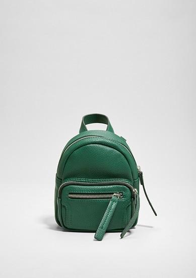 Mini-Rucksack in Leder-Optik