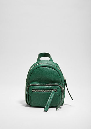 Mini-Rucksack in Leder-Optik