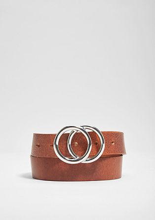 Ledergürtel mit Double Ring-Schließe