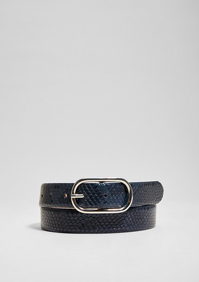 Snakeskin leather belt from s.Oliver