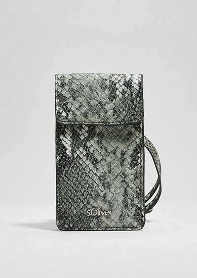 Telefoontasje met een slangenlook