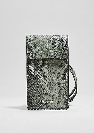 Neck Pouch in Snake-Optik