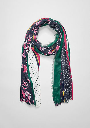 Woven scarf in a mix of patterns from s.Oliver