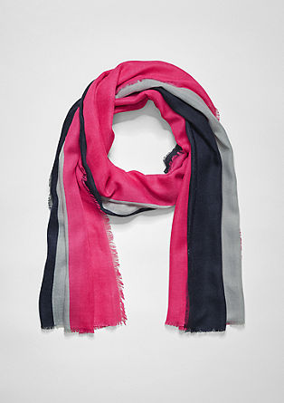 Woven scarf with colour blocking from s.Oliver