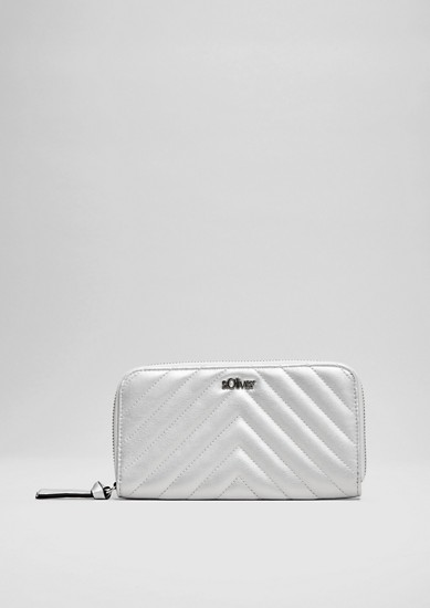 Zip purse with a textured pattern from s.Oliver