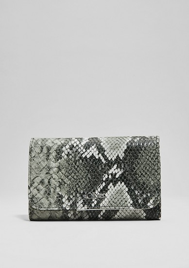 Flap purse in a snakeskin look from s.Oliver